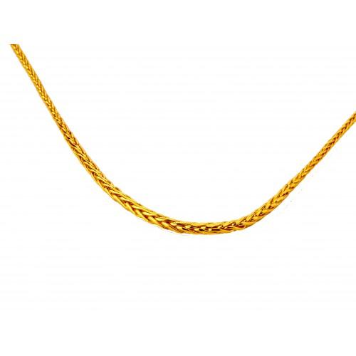 Komplet złoty: naszyjnik + bransoletka
