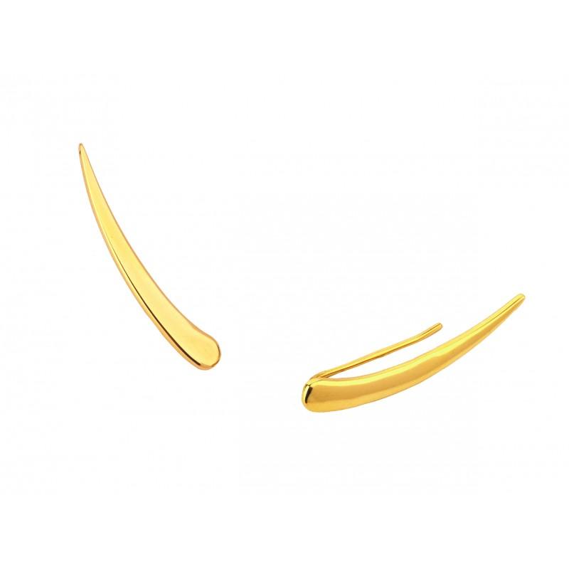 Kolczyki złote NAUSZNICE gładkie