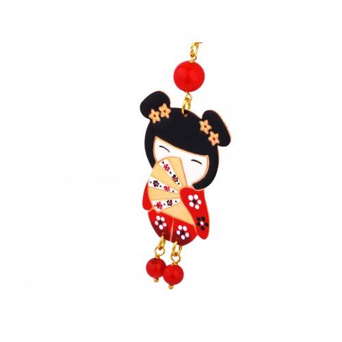 Naszynik laleczka Kokeshi czerwona